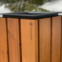 Аксессуары для садовой мебели - Урна садово-парковая «Forest» 400 из термососны, MIROZDANIE, 0