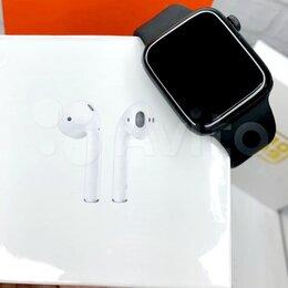Наушники и Bluetooth-гарнитуры - AirPods 2 + Smart Watch 6, 0