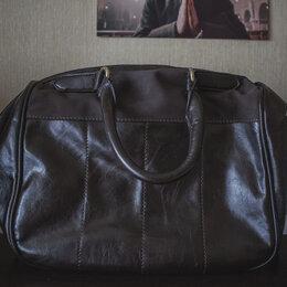 Сумки - Кожаная коричневая сумка, 0