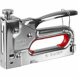 Гвоздескобозабивные пистолеты и степлеры - Степлер, скобы для степлера ЗУБР Степлер для…, 0