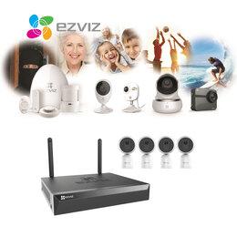 Готовые комплекты - Видеонаблюдения Wi-Fi на 4 камеры EZVIZ C1T+X5S., 0