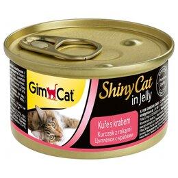 Корма  - GimCat Shiny Cat (цыпленок + краб) 70 г Консервы…, 0