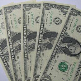 Банкноты - Купюры 1 Доллар (оригинал!!), 0