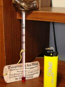 Термометры и таймеры - Термометр для вина, ручка из лозы, Франция, 0