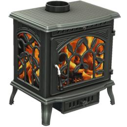 Камины и печи - Чугунная печь камин DEMETRA 10 кВт, 0