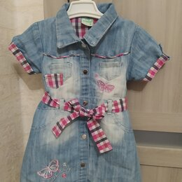 Платья и сарафаны - Платье джинсовое, 0