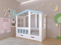 Кровати - Детская кровать-домик Астра для мальчика…, 0
