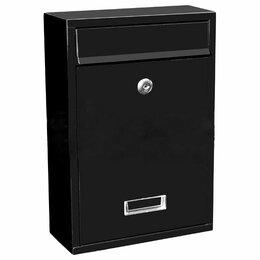 Почтовые ящики - Ящик почтовый простой черный, 0