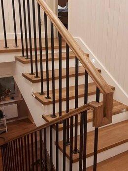 Лестницы и элементы лестниц - Лестница из сращенного дуба для дома 1500*300*40, 0