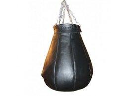 Тренировочные снаряды - Груша Боксерская Кожаная Профессиональная - 50кг, 0