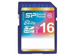 Карты памяти - Флеш карта SD 16GB Silicon Power Elite SDHC Class , 0