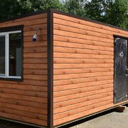 Готовые строения - Утеплённый дачный домик с обшивкой металлосайдингом под дерево., 0