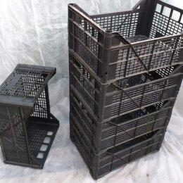 Корзины, коробки и контейнеры - Ящики пластиковые черные, б у.    30х40х18, 0