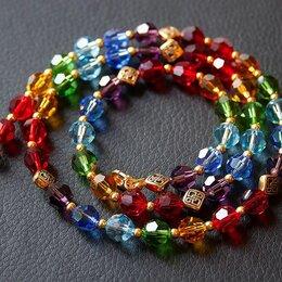 """Колье и бусы - Ожерелье из гранёных бусин Сваровски """"Летняя радуга"""" длина 59 см., 0"""