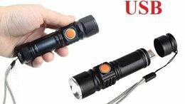 Фонари - Ручной  фонарик USB 515-T6, 0
