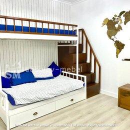 Кроватки - Двухъярусная кровать с лесенкой комодом, 0