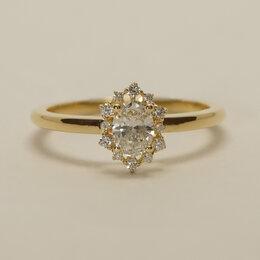 Кольца и перстни - Нежное помолвочное кольца с центральным овальным…, 0