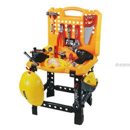 Детские наборы инструментов - Детский набор инструментов с верстаком Юный механик Т101-1, 100 предметов, 0