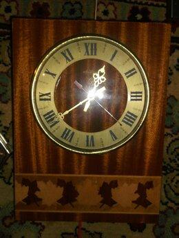 Часы настенные - часы антарес массив с инкрустацией винтаж, 0