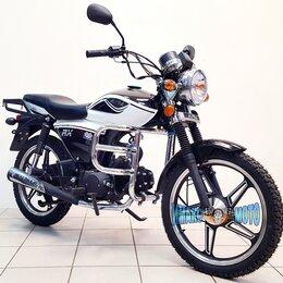 Мототехника и электровелосипеды - Мопед Альфа Alpha RX 110 см3, чёрный с белым, 0