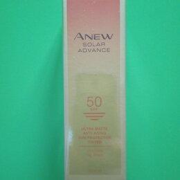 Загар и защита от солнца - Матирующий солнцезащитный крем для лица с тональным эффектом SPF 50 Anew, 0
