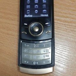 Мобильные телефоны - Samsung SGH-U600. Слайдер. Черный с золотом., 0