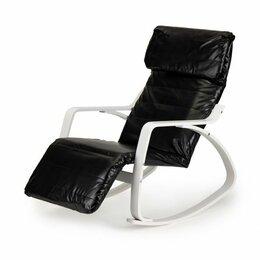 Кресла - Кресло-качалка с подставкой для ног - экокожа, 0