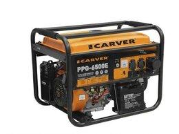 Электрогенераторы - Бензиновый генератор Carver PPG-6500E 5,5 кВт, 0