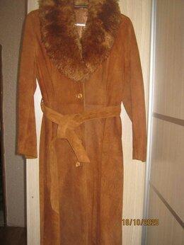 Дубленки - Демисезонное пальто из натуральной замши, 0