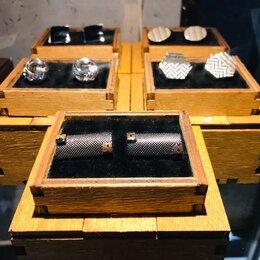 Запонки и зажимы - Запонки в деревянной коробочке, 0