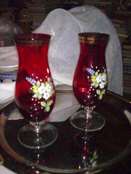 Вазы - Две старые вазы красного стекла (21 см) - ЧССР, 0