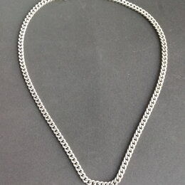 Цепи - Толстая мужская серебряная цепь, панцирное плетение 35,5гр , 0