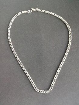 Цепи - Толстая мужская серебряная цепь, панцирное…, 0