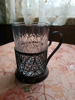 Бокалы и стаканы - Подстаканник с хрустальным стаканом, 0