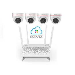 Камеры видеонаблюдения - Комплект на 4камеры ezviz С4W +Vault Plus, 0