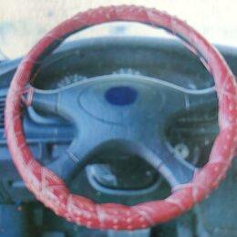 Интерьер  - Оплётка на руль, оплётка руля, красная, 0
