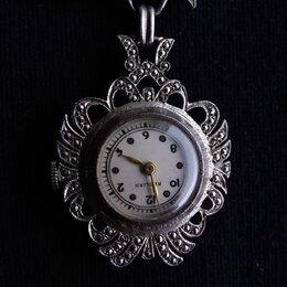 Другое - Брошь-шатлен Часы, серебро, механика, США, 1940 годы, 0