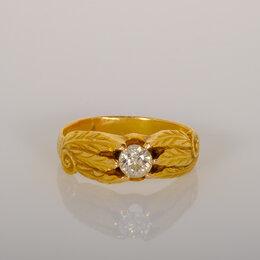 Кольца и перстни - Золотое кольцо с бриллиантом 56 проба, Царизм, 0