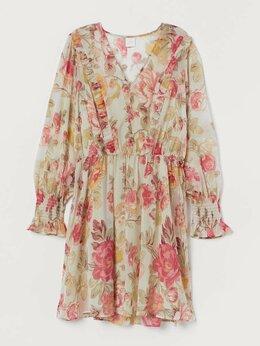 Платья - Платье с цветочным принтом, 0