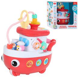 Развивающие игрушки - Игрушка на бат. Кораблик цвет красный,29 звуков,стихов,мелодий. , 0