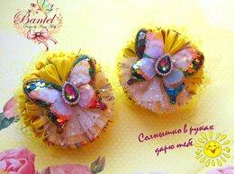 """Украшения для девочек - Резиночка для волос """"Солнечные бабочки"""", 0"""
