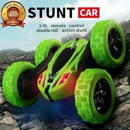 Радиоуправляемые игрушки - Машинка перевертыш RC Stunt Car Double Sided с…, 0
