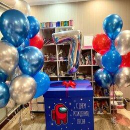 Воздушные шары - Коробка с шарами Among us, 0