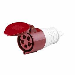 Электроустановочные изделия - Розетка переносная 225 3P+PE+N 32А 380В IP44 EKF…, 0
