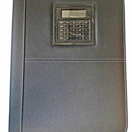 Канцелярские принадлежности - Папка деловая черная кожзам на хлястике 250*330*15  760 /30, 0