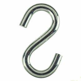 Грузила, крючки, джиг-головки - Крючки Tech-Krep Крючок S-образный М4 цинк (5шт) Tech-Krep 105822, 0