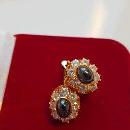 Серьги - Красивые серьги золото 585, 0