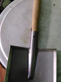 Лопаты - Лопатка саперная из Титана СССР ручка дуб, 0