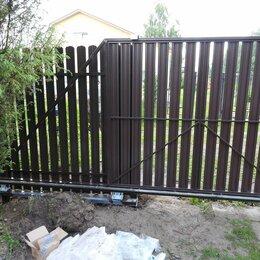 Заборы, ворота и элементы - Откатные ворота из профлиста , 0