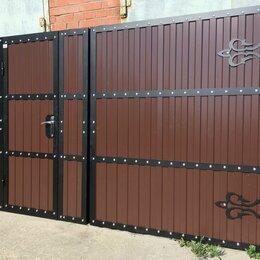 Заборы, ворота и элементы - Металлические ворота для дачи под ключ, 0